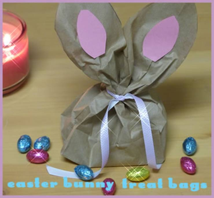 paper bag easter bunnies