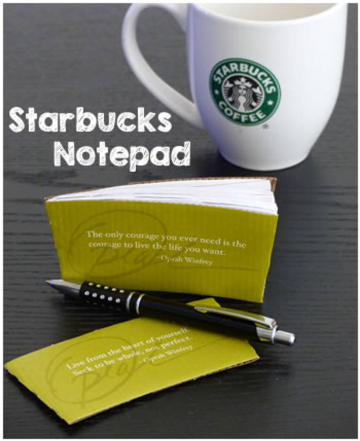 DIY notebook starbucks coffee sleeve