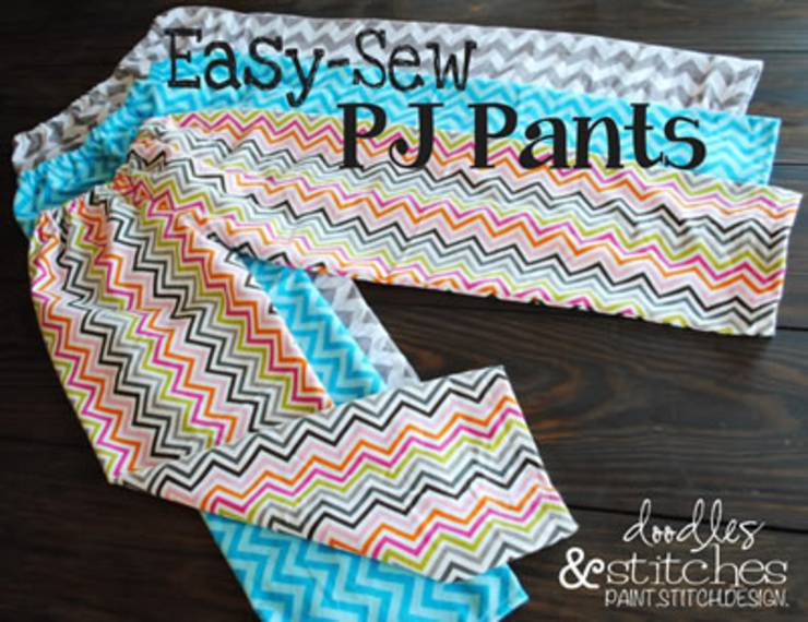 Easy Pajama Pants Tutorial