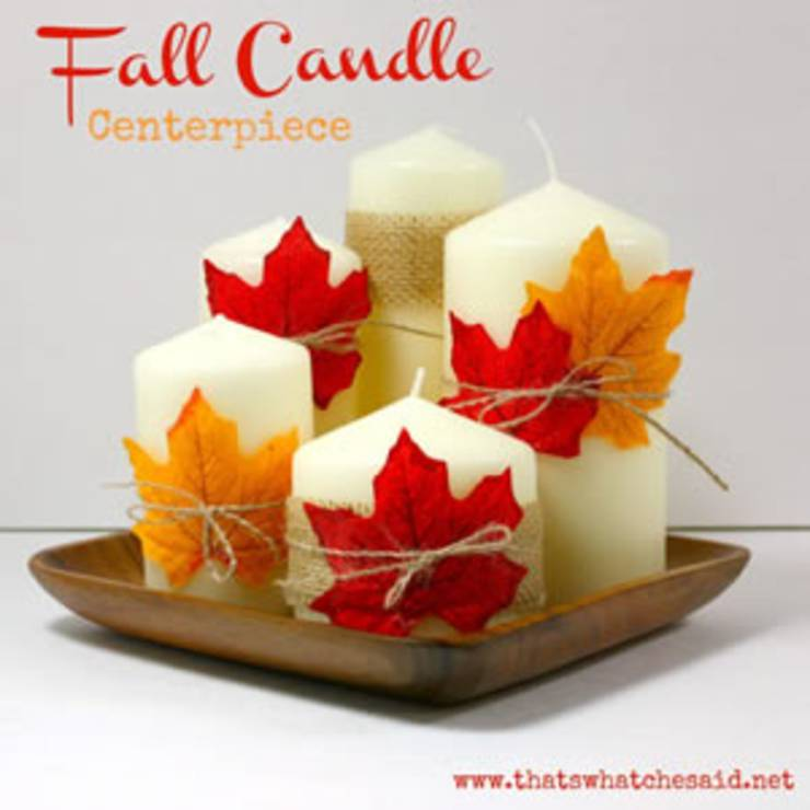 Fall Candle DIY Centerpiece