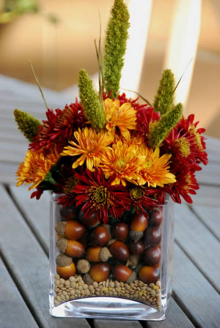 Fresh Flower Thanksgiving Centerpieces