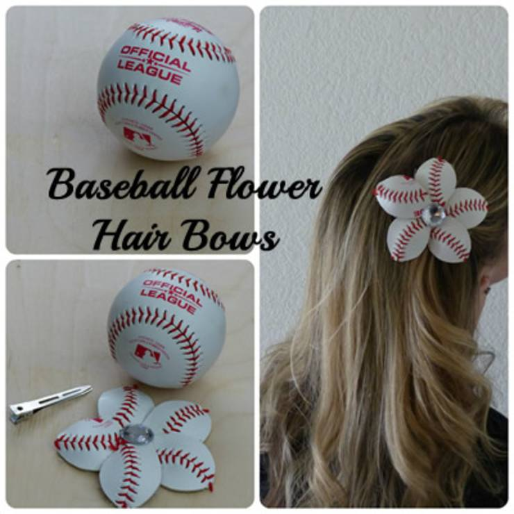how to make baseball flowers