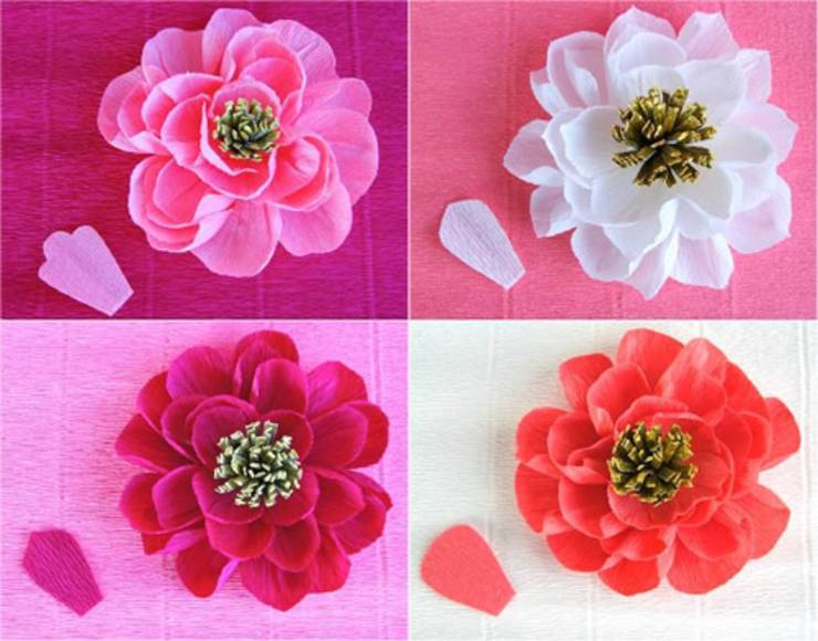 12 Diy Crepe Paper Flower Tutorials How To Make Crepe Paper Flowers
