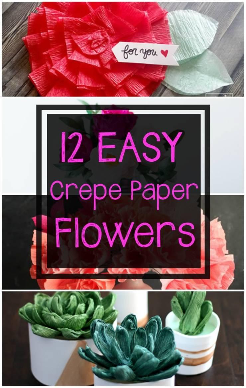DIY_crepe paper flowers tutorials