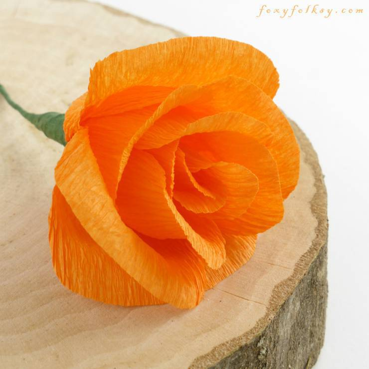 12 diy crepe paper flower tutorials how to make crepe paper flowers easy crepe paper roses mightylinksfo