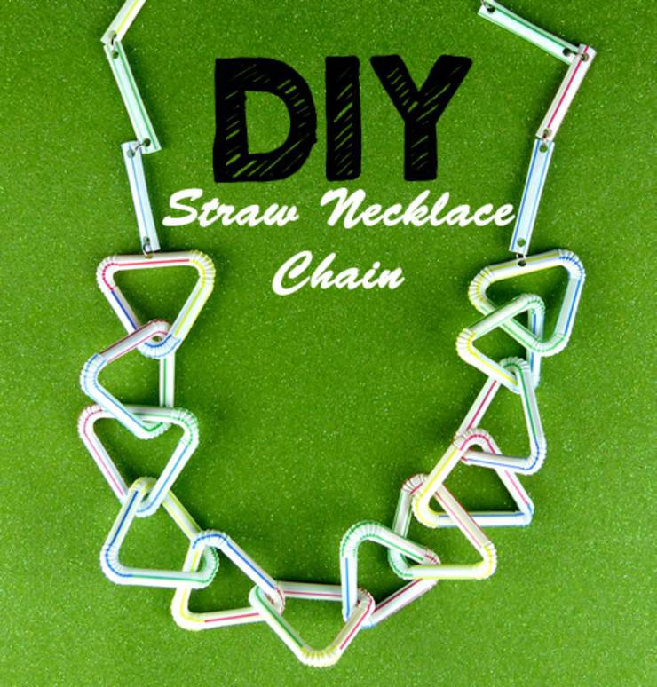 DIY Teen Crafts_How To Make A Necklace Chain Out Of Straws