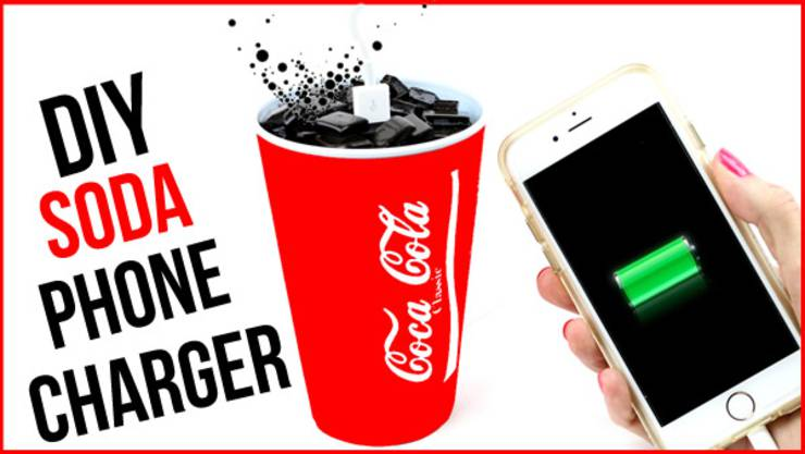 DIY Coca Cola Phone Charger - soda phone charger