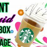 DIY Giant Liquid Starbucks Storage Idea or Gift Box