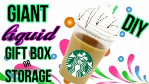 diy giant liquid starbucks gift box or storage