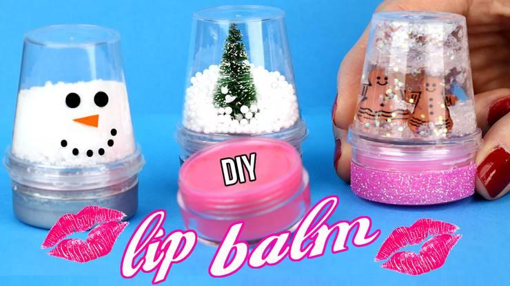 DIY Snow Globe Lip Balms