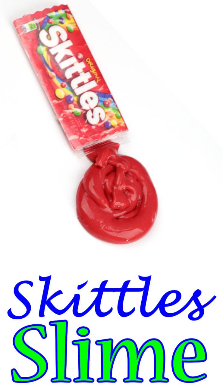 diy slime_miniature candy skittles slime