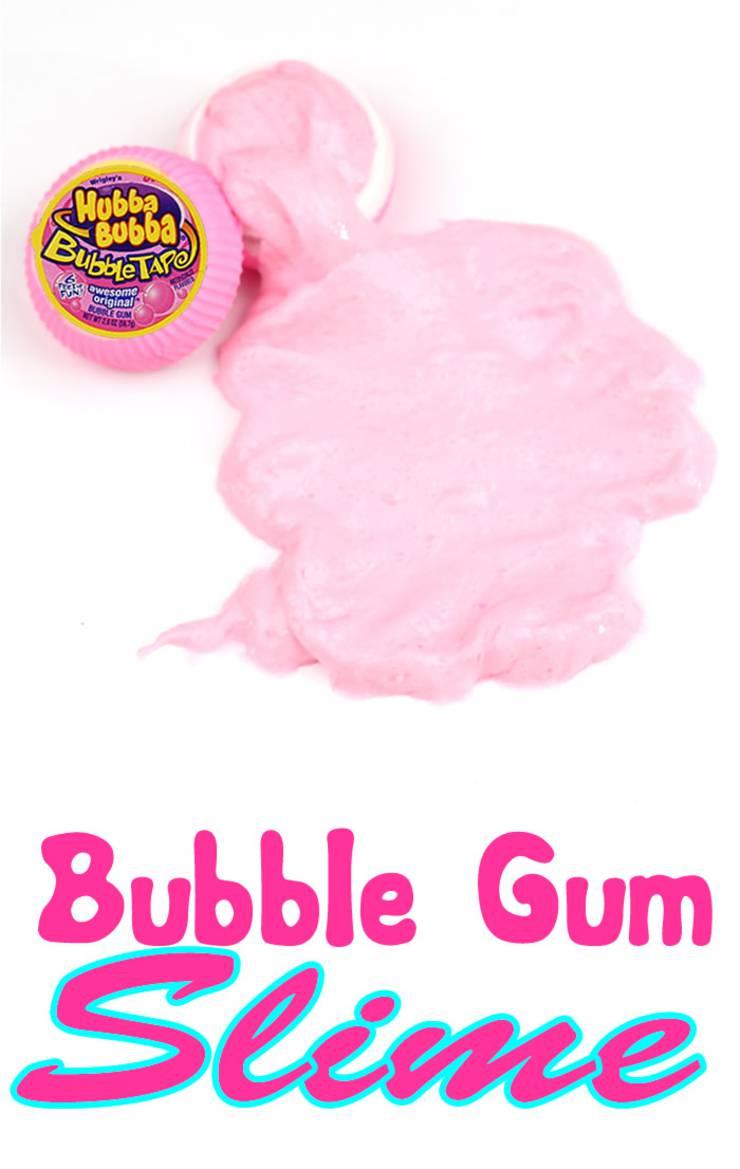 diy slime_miniature bubble gum slime