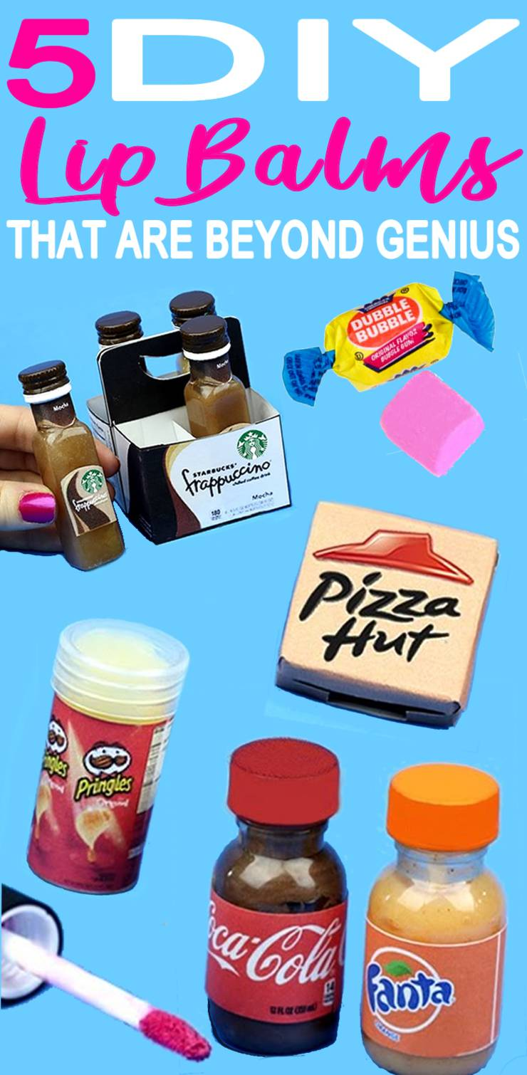 5 DIY Lip Balm Ideas – Miniature Starbucks, Coca Cola, Pizza Hut & Bubblegum