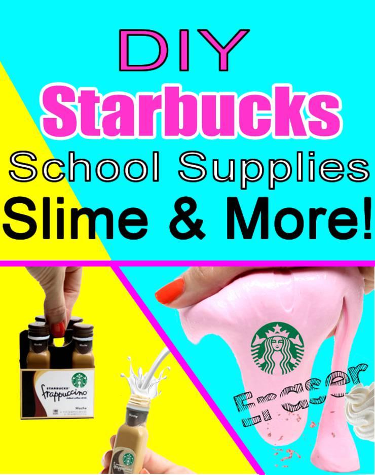 DIY Starbucks School Supplies