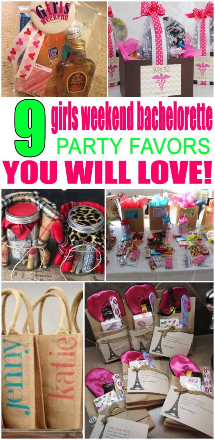 Girls Weekend Bachelorette Party Favors