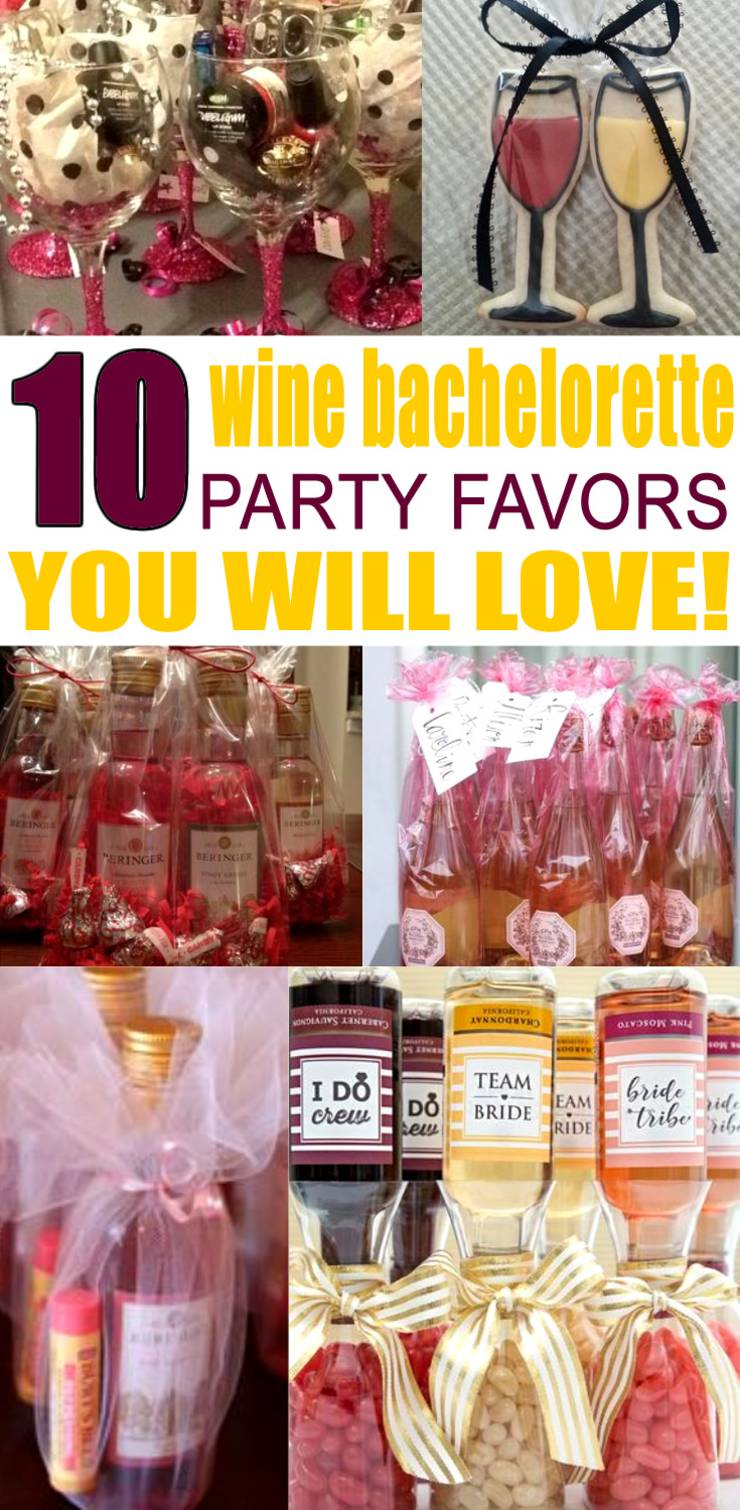 Wine Bachelorette Party Favors