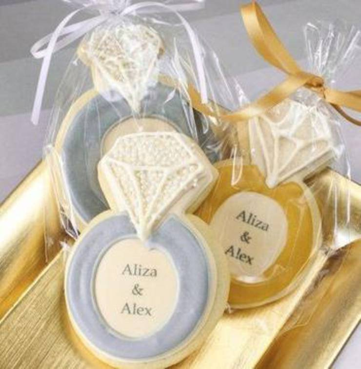 Diamond Ring Cookie Favors