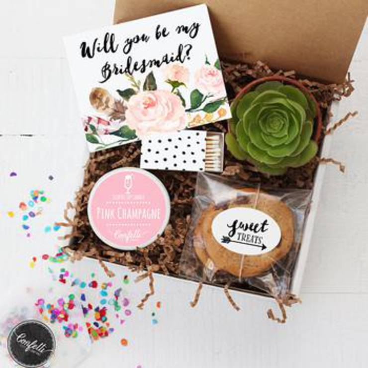 Succulent Bridesmaid Proposal Box