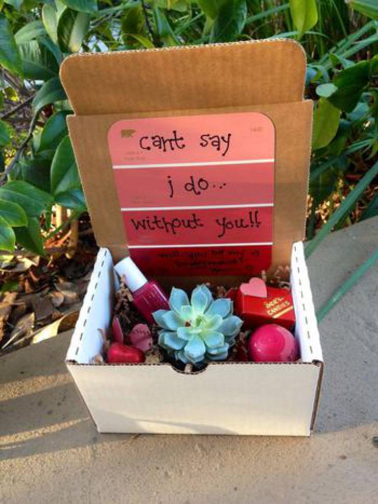 Will You Be My Bridesmaid Succulent Box
