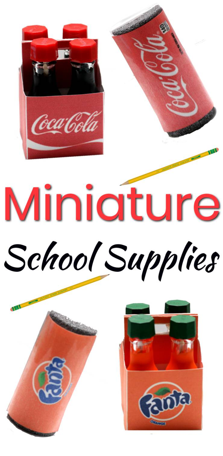 DIY Miniature School Supplies | Coca Cola – Fanta – Soda DIYs