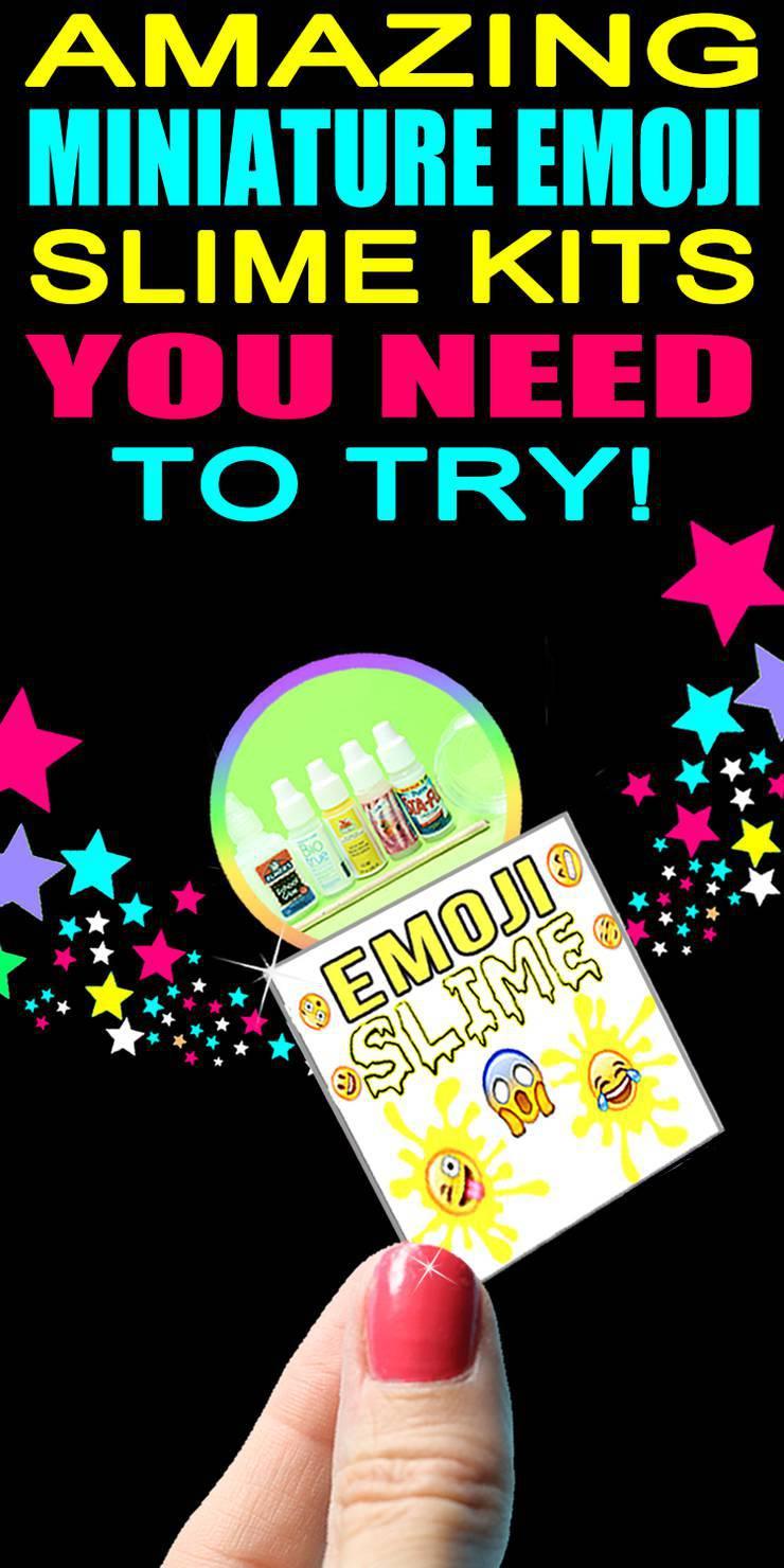 DIY Miniature Emoji Slime Kits
