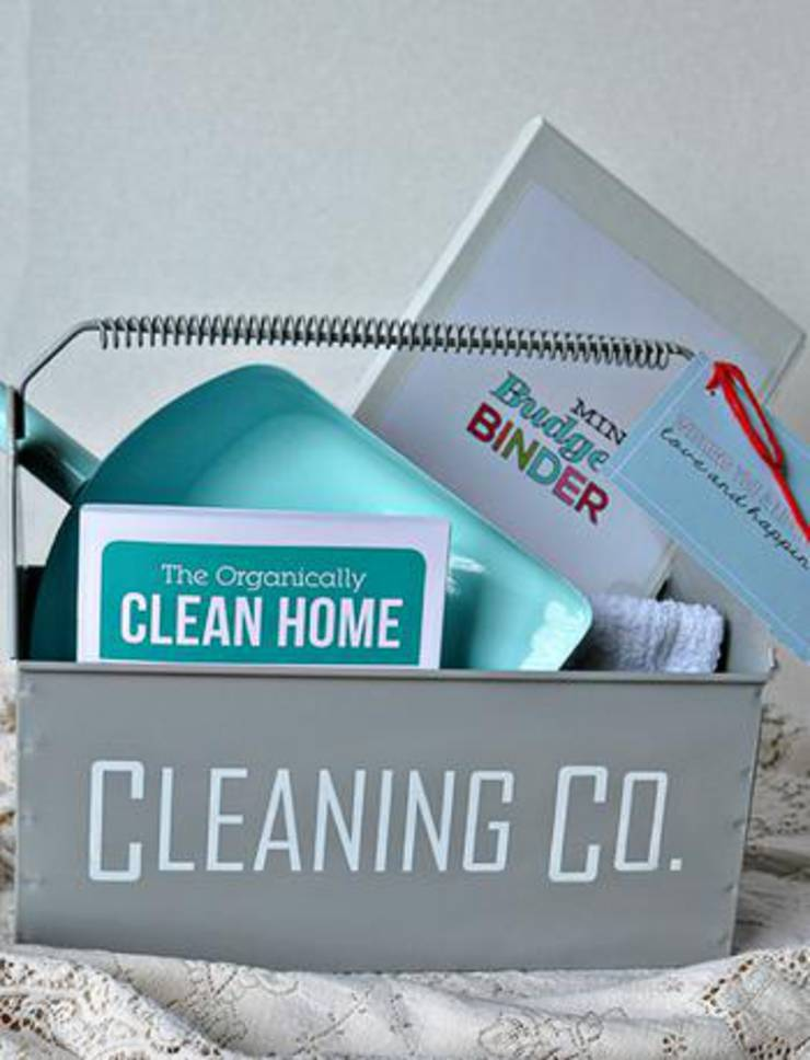 Cleaning Supplies Wedding Gift Basket