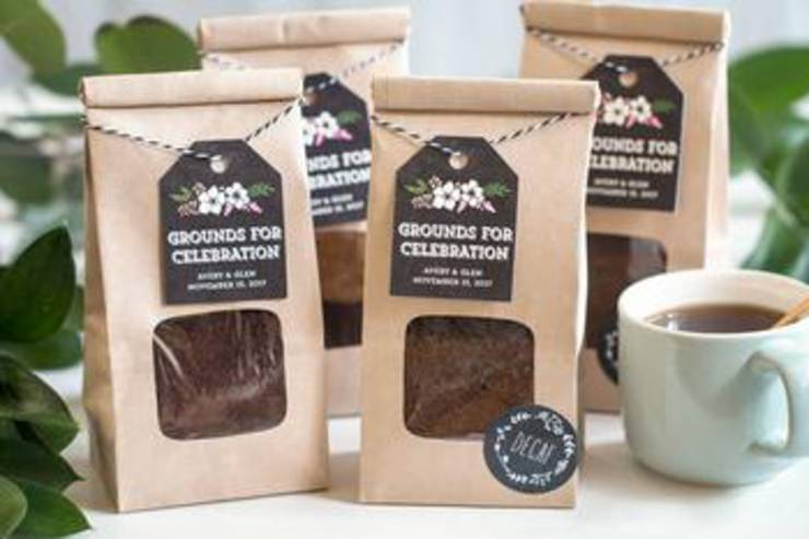 Coffee Grounds Wedding Favor Bags