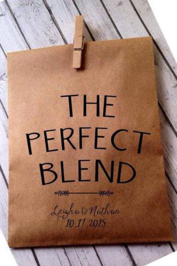 The Perfect Blend Coffee Wedding Favor