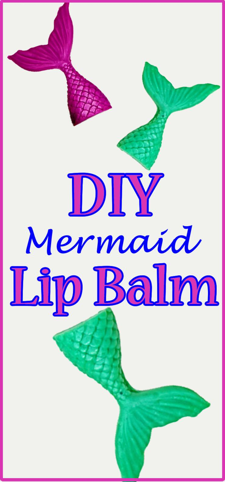 diy mermaid lip balm