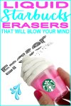 Totally Amazing DIY Liquid Starbucks Eraser | School Supplies |  DIY Crafts For Back To School
