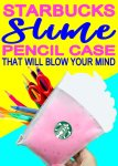 Incredibly Clever DIY Starbucks Slime Pencil Case | School Supplies |  DIY Crafts For Back To School