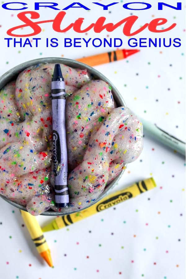 DIY Crayon Slime | How To Make Crayola Slime | Homemade No Borax Slime