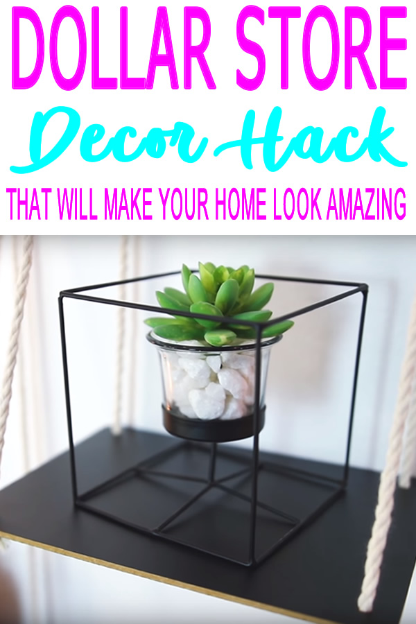DIY Dollar Store Crafts_Dollar Store Hacks_Decor Projects_Succulents Ideas