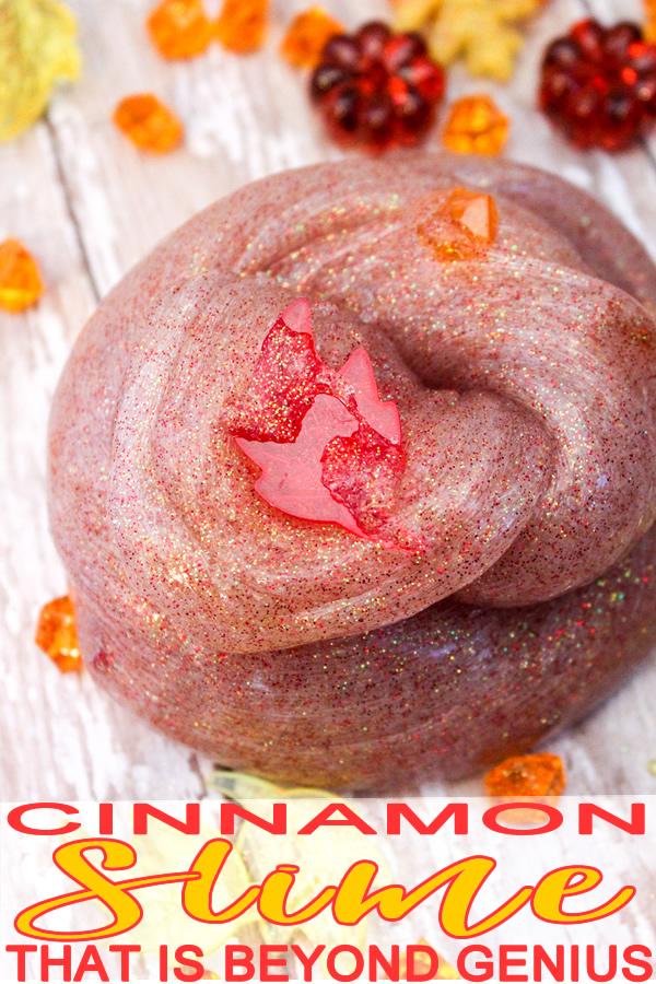 DIY Fall Slime_How To Make Cinnamon Slime_Homemade No Borax Recipe