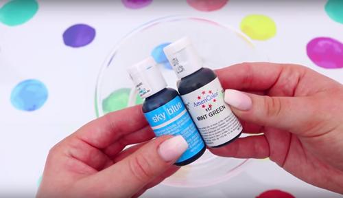 DIY Mermaid Slime Food Coloring