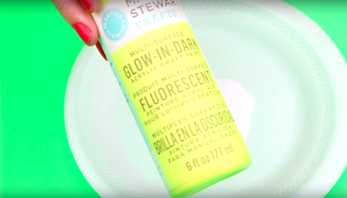 DIY glow in the dark slime
