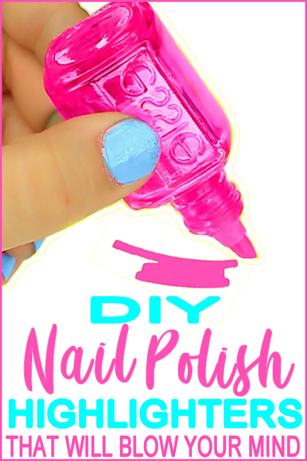 Crafts With Nail Polish Bottles | DIY School Supplies | Highlighter Marker Ideas