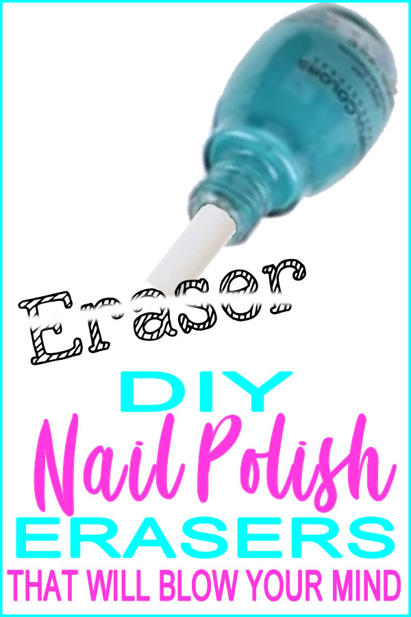DIY Nail Polish Erasers_DIY School Supplies Craft Ideas_