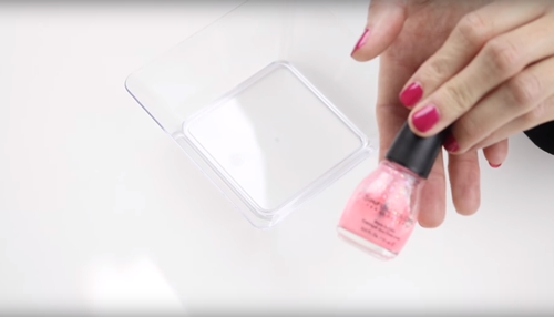 how to clean a nail polish bottle