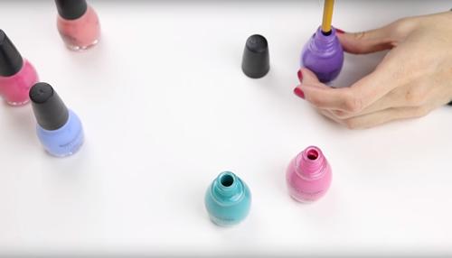 diy nail polish pencils - diy pencil decorations