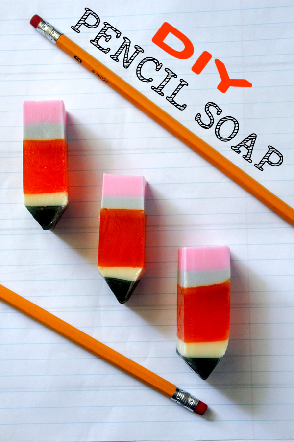 DIY PENCIL SOAP _ melt and pour glycerin soap recipes