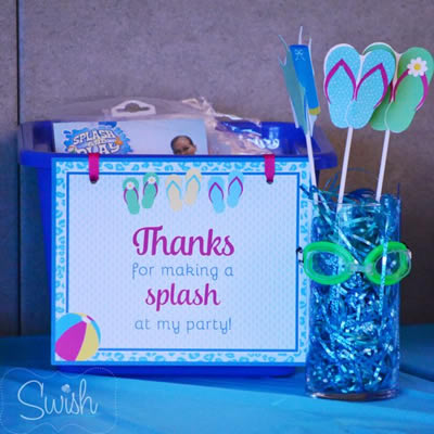 DIY Pool Party Favors