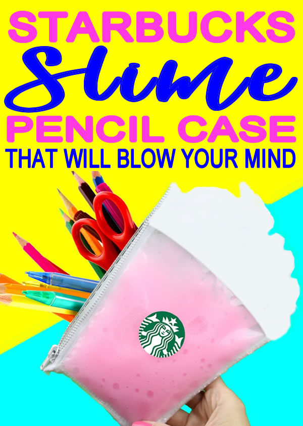 DIY Starbucks Slime Pencil Case_DIY School Supplies_