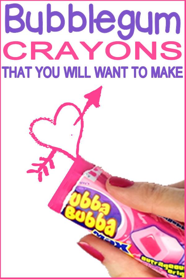 DIY bubblegum crayons_diy school supplies_kids and teen crafts