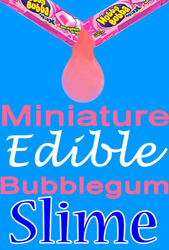 DIY edible slime_miniature bubblegum slime