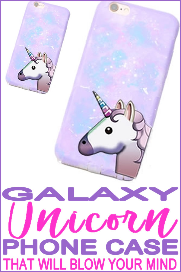 DIY galaxy unicorn phone case