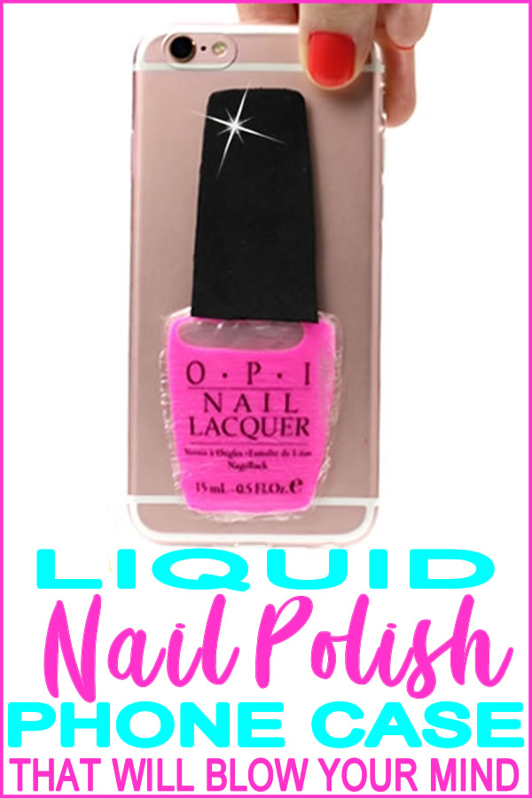 DIY liquid nail polish phone case