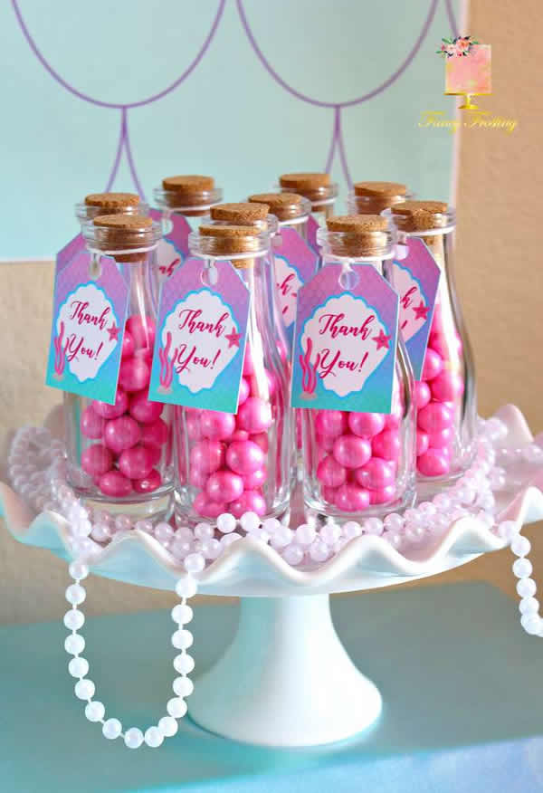 DIY mermaid party favors