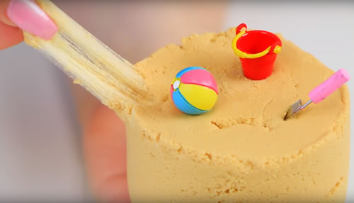 HOW TO MAKE HOMEMADE SAND SLIME RECIPE FOR KIDS SCIENCE