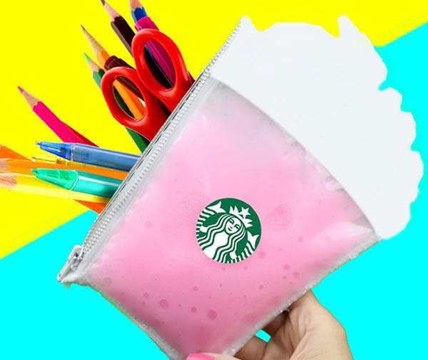 DIY_Starbucks Slime Pencil Case_DIY School Supplies_ kids crafts for back to school